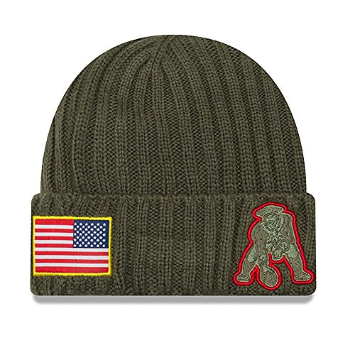 Patriots 2017 Salute To Service Throwback Logo Knit Hat Beanie (New England Patriots Throwback Jersey)