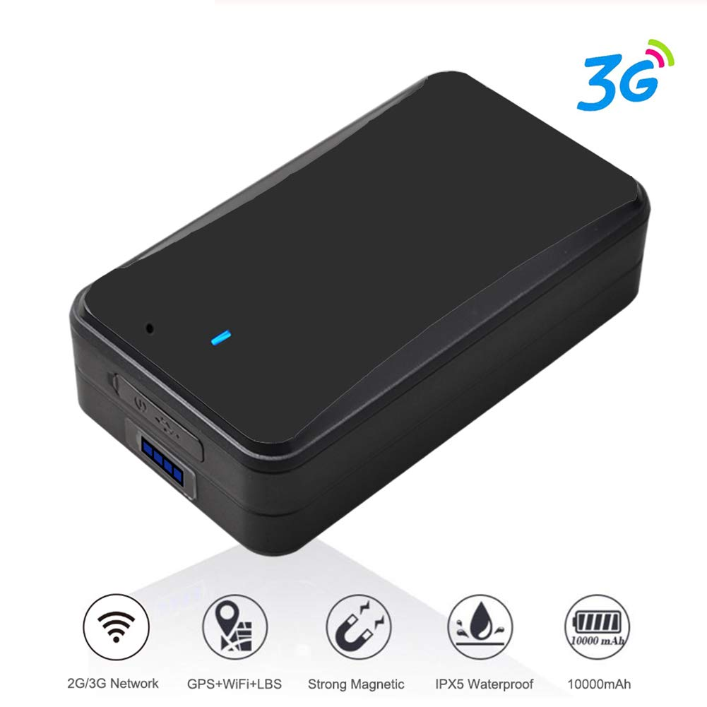 AIWOIT Wireless GPS Tracker, 3G Real Time Mini Tracking Device with Powerful Magnetic & Rechargeable 10,000mAh Battery Last 30 days, for Vehicles, Cars, Kids, Persons, Assets, No Platform Monthly Fees by AIWOIT
