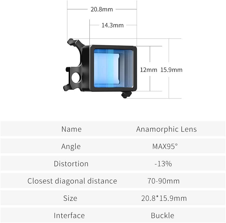 VIJIM Ulanzi Mavic Air 2 Anamorphic Lens Compatible with DJI Mavic ...