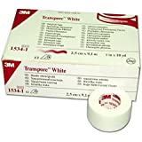 3M Transpore White Tape - 2.5cm x 9.1m (x12)