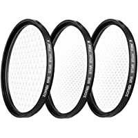 ZOMEi 55MM +4 Points Star Filter + 6 Points Star Filter + 8 Points Star Filter for canon nikon