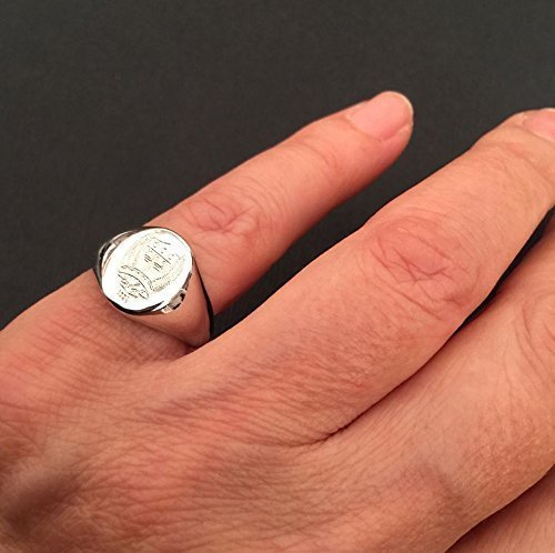 Crest Engrave Ring Personalized Ring Signet Ring Special Gift For