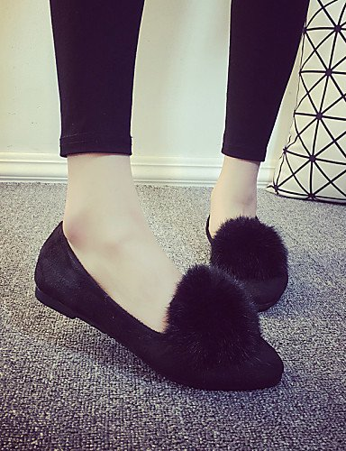 talón us5 gris negro eu36 Toe plano zapatos Casual uk3 Flats 5 de señaló gray PDX las cn35 5 mujeres If4SwwOx
