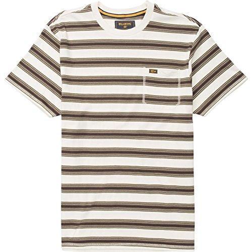 - Billabong Mens Grafton Crew Short-Sleeve Shirt Chalk Medium