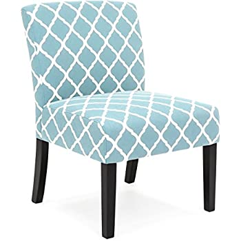 Best Choice Products Upholstered Accent Chair w/ Diamond Patterns (Turquoise)