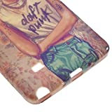JUJEO Frida Kahlo Daft Punk Glossy Soft TPU Skin Case for Samsung Galaxy Note 4 N910 - Non-Retail Packaging - Multi