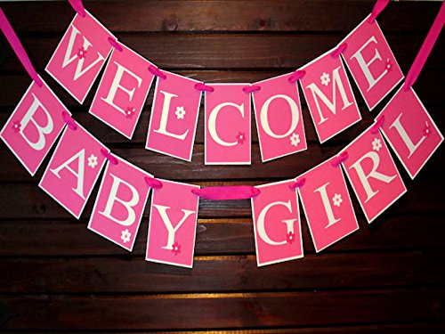 baby shower banner welcome baby girl banner names banner amazon ca