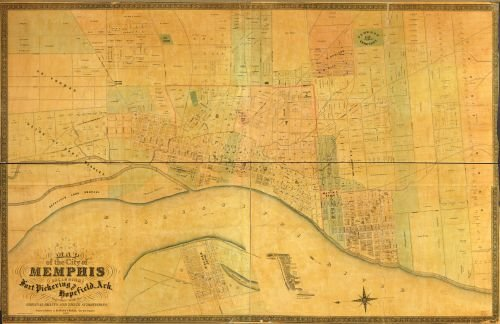1858 Map of the city of Memphis : including Fort Pickering and Hopefield, Ark. : together with the (Cupones De Party City)