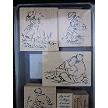 Stampin' Up! Summer By the Sea Set of 6 Mounted Wood Stamps - Retired 2004