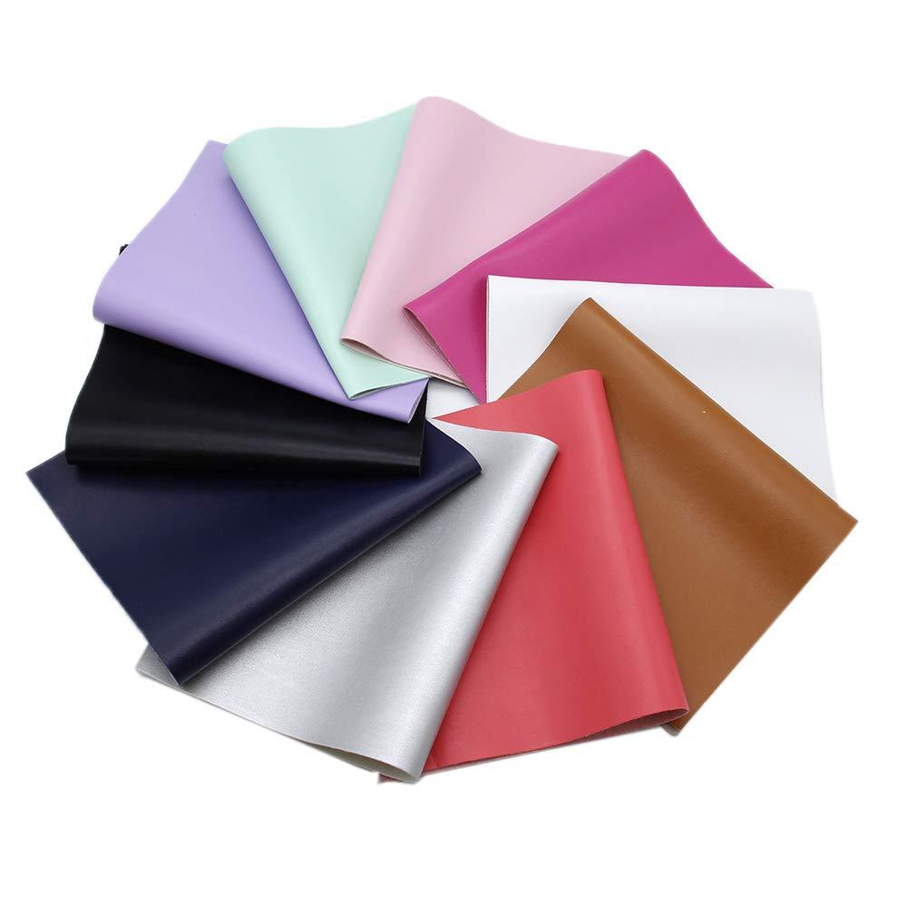Pattern C for Earrings Hair Bows Making DIY Projects Home Decor David Angie Plain Colors Bump Texture Basket Weave Shape Faux Leather Sheet 9 Pcs 8 x 13 20 cm x 34 cm