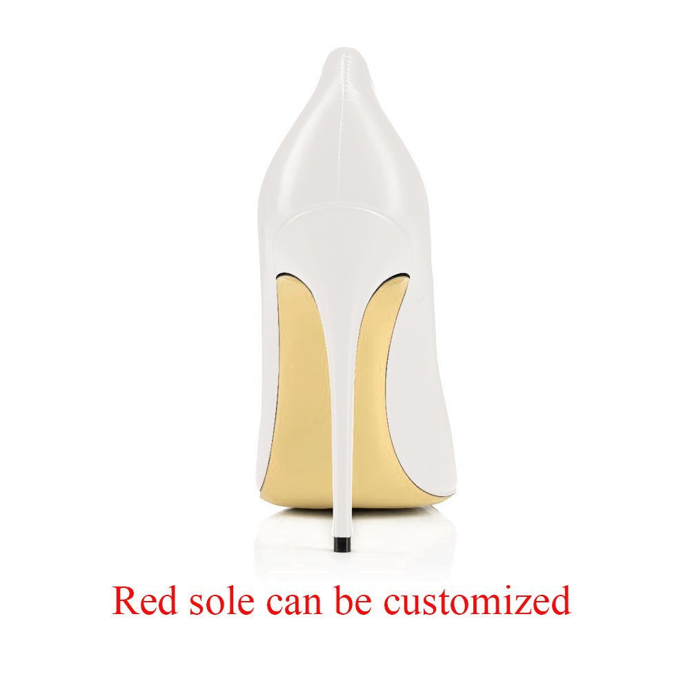 Modemoven Heels Women's Pointy Toe High Heels Modemoven Slip On Stilettos Large Size Wedding Party Evening Pumps Shoes B073Y5ZLB8 12 B(M) US|White Faux Leather da396f