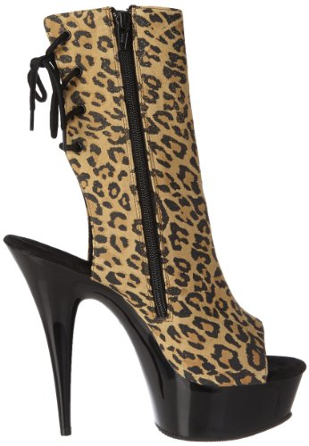 blk Pleaser Uk 6 eu Suede Print Leopard Tan Delight 1018lp 39 wq6xrTqYH