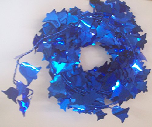 75 FEET DELUXE WIRE GARLAND Blue Bells 3 Strands 25 Feet Each (Strand Bell Wire)
