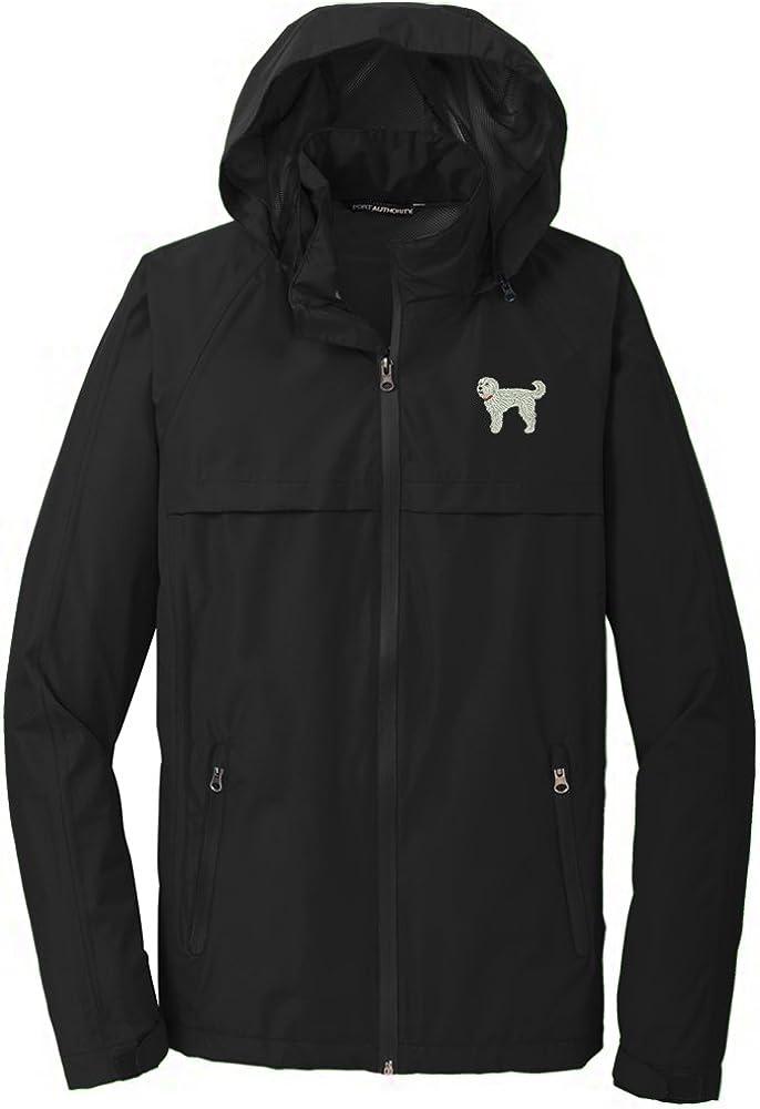 YourBreed Clothing Company Labradoodle White Mens Rain Jacket