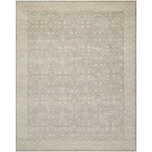 Safavieh Oushak Collection OSH232A Hand-Knotted Blue and Ivory Wool Area Rug (6' x 9')