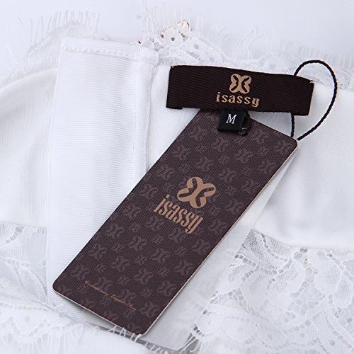 ISASSY - Camiseta sin mangas - para mujer blanco