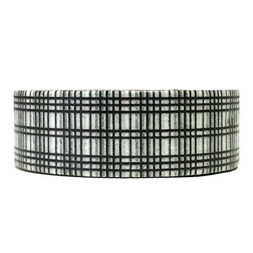 Wrapables Colorful Patterns Washi Masking Tape, Black Twill