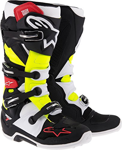 Alpinestars Tech 7 Boots , Primary Color: Black, Size: 13, Distinct Name: Black/Red/Yellow, Gender: Mens/Unisex 201201413613 by Alpinestars Más Colores