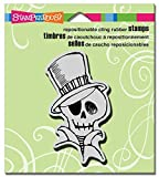 Stampendous Halloween Cling Rubber Stamp 3.5''X4'' Sheet-Mr. Skulleton by Stampendous