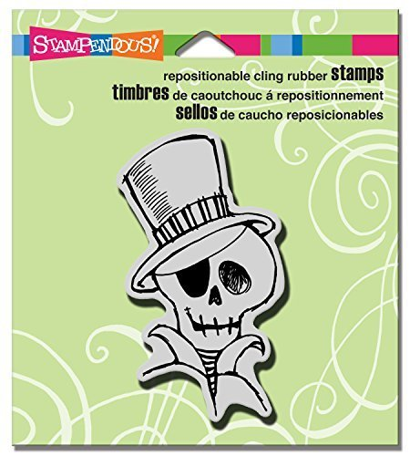Stampendous Halloween Cling Rubber Stamp 3.5''X4'' Sheet-Mr. Skulleton by Stampendous by STAMPENDOUS