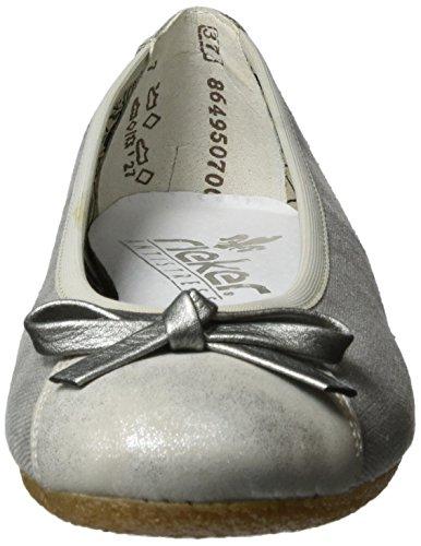 Silber 41480 Rieker Bailarinas Mujer para Gris 90 grey qaz6wXn7zB