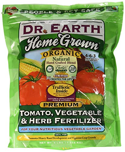 Dr. Earth Organic 5 Tomato, Vegetable & Herb Fertilizer Poly Bag (Best Fertilizer For Tomatoes And Peppers)