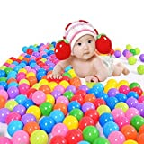 toyofmine 100pcs Colorful Ball Ocean Balls Soft Plastic Ocean Ball Baby Kid Swim Pit Toy Ship from USA by HotEnergy