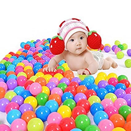 toyofmine 100pcs Colorful Ball Ocean Balls Soft Plastic Ocean Ball Baby Kid  Swim Pit Toy Ship