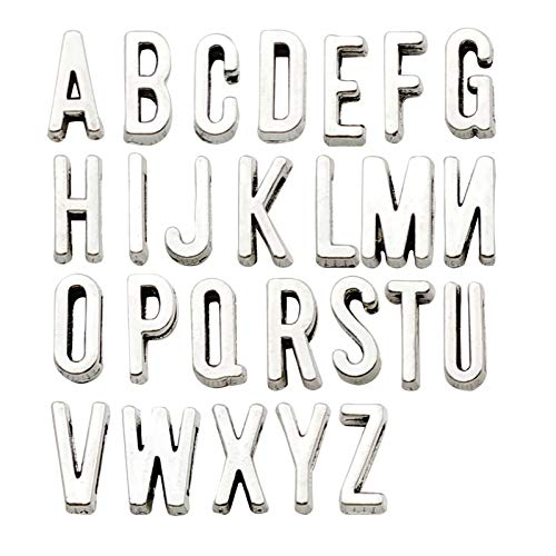 iloveDIYbeads Spacer Beads ABC Letter/Alphabet Letter A-z Charms Alphabetic Pendant,DIY Crafts Charms for Personalization Jewelry Making Accessory for DIY Necklace Bracelet,Set of 5 (130 Pcs) M142