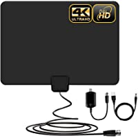 $22 » [Newest] Indoor Amplified HD Digital TV Antenna up to 100+ Miles Range -PACOSO HDTV Antenna…
