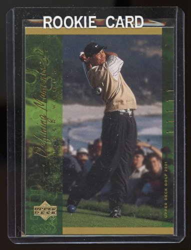 2001 Upper Deck Defining Moments #124 Tiger Woods Rookie Card - Mint Condition Ships in Brand New Holder