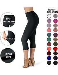 Satina High Waisted Super Soft Capri Leggings - 22 Colors...