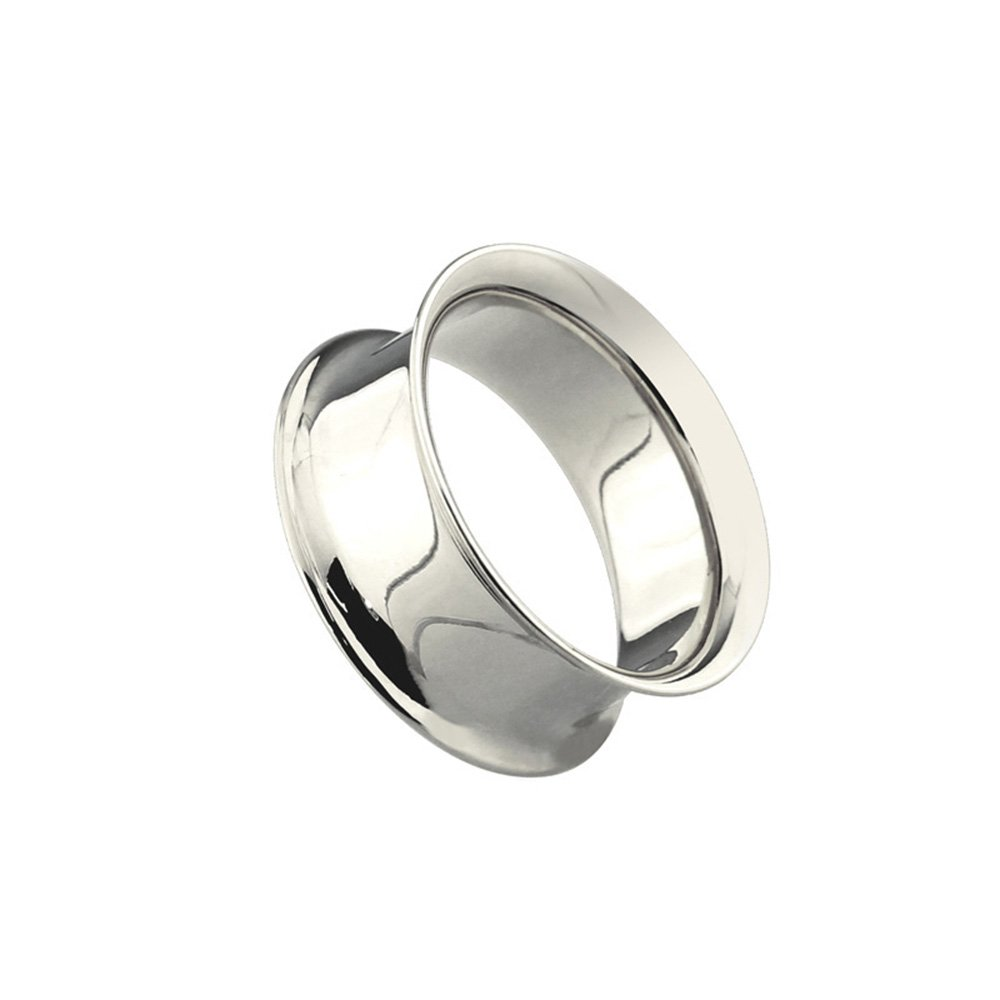 Dynamique Pair Of Double Flared Tunnels Up To 2''(50mm) 316L Surgical Steel