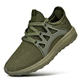 QANSI Child Kids Fashion Sneakers Ultra Lightweight Breathable Athletic Running Walking Tennis Shoes for Girls Boys 7 Big Kid Green