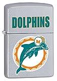 Zippo Lighter NFL Throwback Miami Dolphins Satin Chrome
