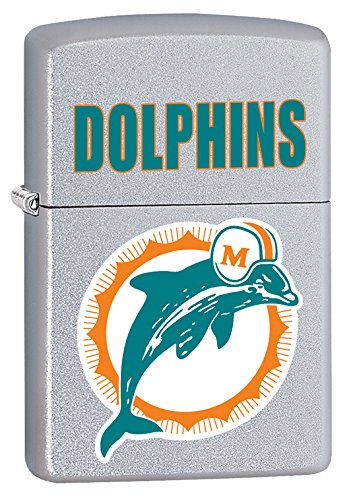 Throwbacks Nfl - Zippo Lighter NFL Throwback Miami Dolphins Satin Chrome