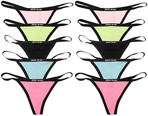 5 x Full Brief Womens Ladies Underwear Black Pack Frank and Beans XY Edition