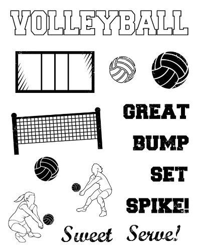 Karen Foster Design, Clear Stamp Set, Volleyball (Foster Design)