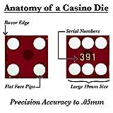 Set of 5 Grade AAA 19mm Casino Dice with Razor