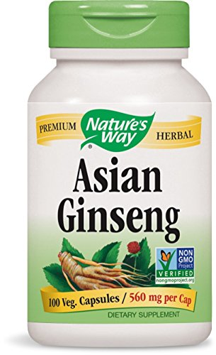 Nature's Way Ginseng, Asian, 100 Capsules, 560 mg (Packaging May Vary) Ginseng 100 Capsules