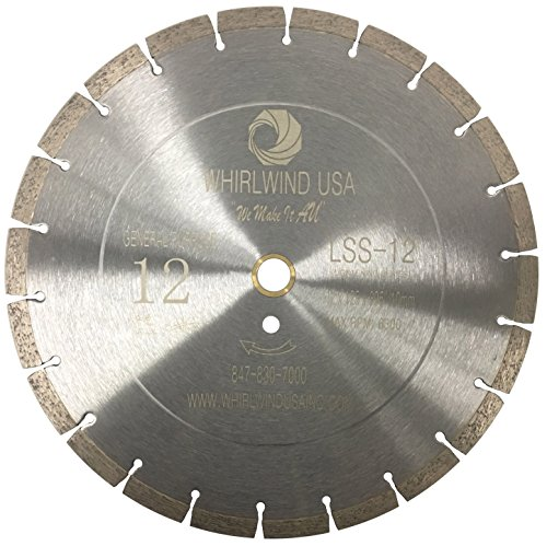 Whirlwind USA LSS 12-Inch Dry or Wet Cutting General Purpose Power Saw Segmented Diamond Blades for Concrete Stone Brick Masonry (Factory Direct Sale) (12
