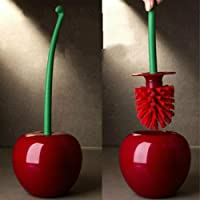 Cherry Shape Clean Tool Toilet Bathroom Toilet Brush Cleaning Toilet Brush Bathroom Supply Tool (Red)