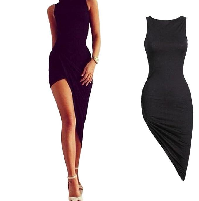 Amazon.com: Lookatool vestido, sexy mujeres sin mangas ...