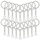 150Pcs Split Key Chain Rings with Chain and Jump Rings, Lystaii Embossed Key Rings with Flower for DIY Arts...