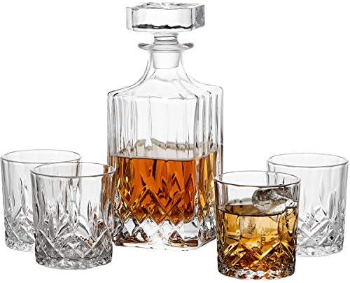 GoodGlassware Whiskey Decanter Glasses Set product image