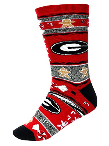 For Bare Feet Georgia Bulldogs Ugly Christmas Xmas Holiday Sports Socks