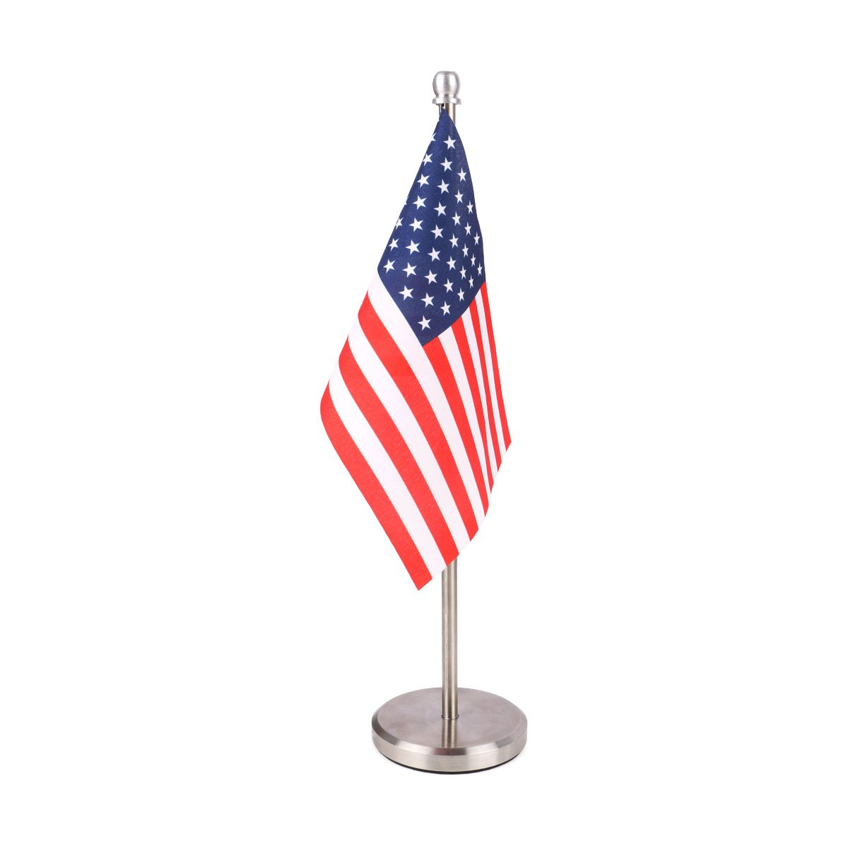 USA Miniature Table Flag with A Graceful Stainless Steel Base