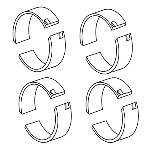 Amazon Com A46050 New Tractor Standard Rod Bearing Set For Several