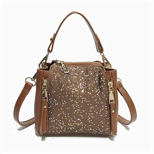 famosa della borsa della donna lusso per delle donne borsa della delle Brown Kaoling della borse Borsa a tracolla di spiaggia di SZ1I1p