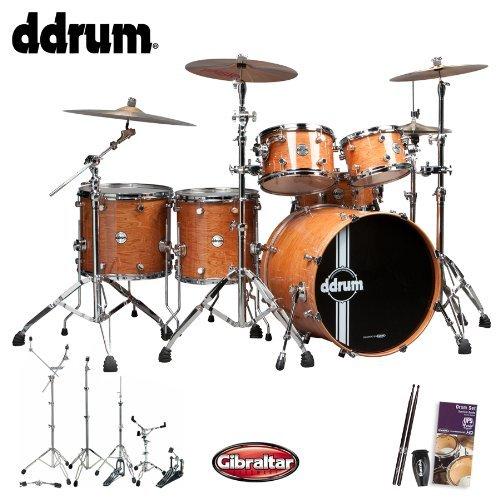 ddrum JF-REFLEX-UPTOWN-22-6-PC-KIT-2 Reflex Uptown 6-Piece with Hardware, Drum Set Survival Guide and Drumsticks - Natural Alder Gloss ()